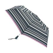 Fulton Graphite Stripe Open & Close Superslim-2 with Safety Handle Umbrella